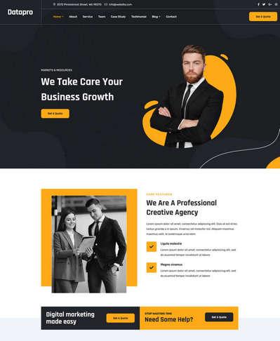 商务服务展示通用单页HTML网页模板
