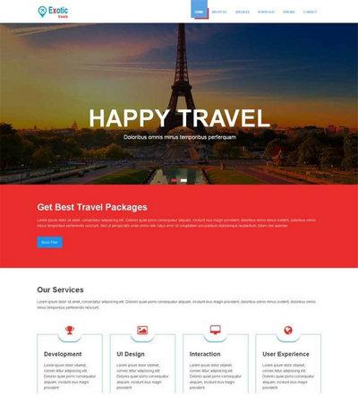 简洁宽屏旅游度假别墅html网站模板下载