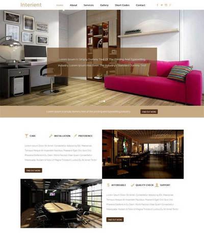 大气宽屏室内装修设计企业网站ht