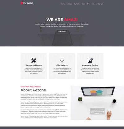 精美个人作品展示主页html静态模