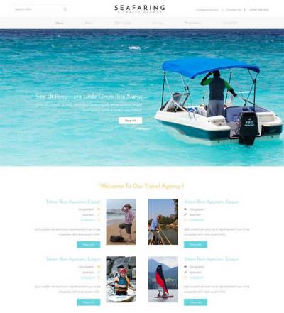 简洁自适应航海旅行公司静态html