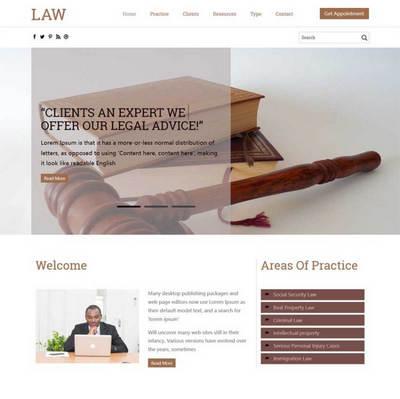 简洁律师事务所静态html网页模板