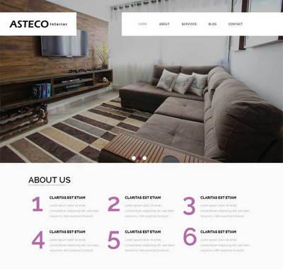 简洁宽屏家具装饰公司静态html页面模板