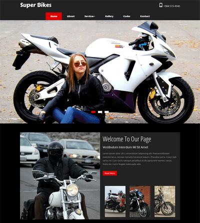 国外摩托车销售网站模板html下载