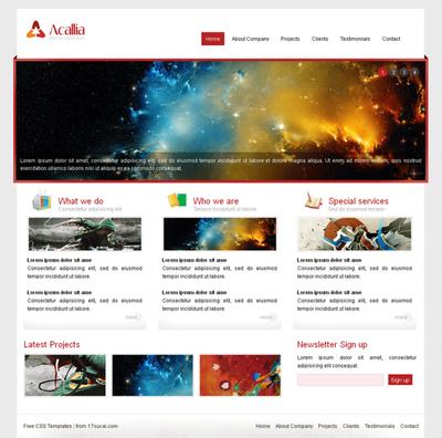 英文企业网站html静态模板下载