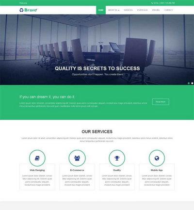 简洁金融商务公司网站静态html模