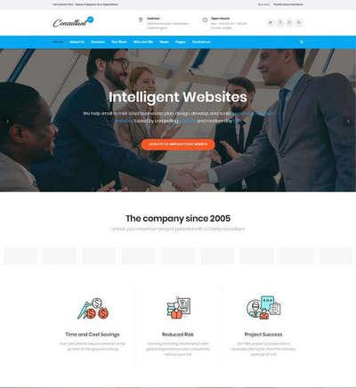 大气金融商务服务公司html网站模