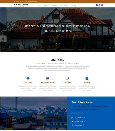 大气房地产开发建筑公司html网页模板
