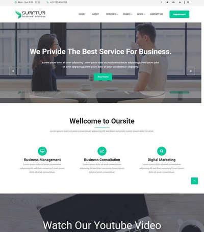 大气商务咨询业务公司html网站模