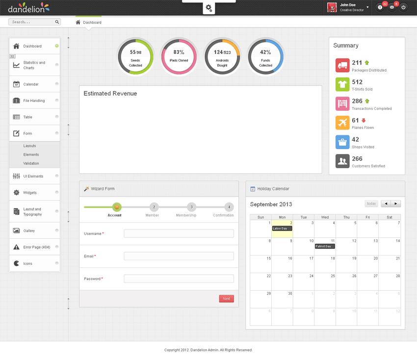 jqueryui制作的响应式后台管理模板html源码下载