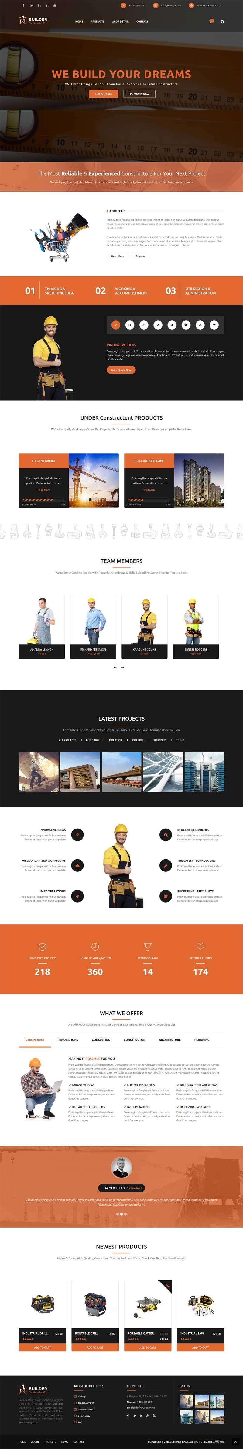 大气的建筑工程勘察设计公司网站模板