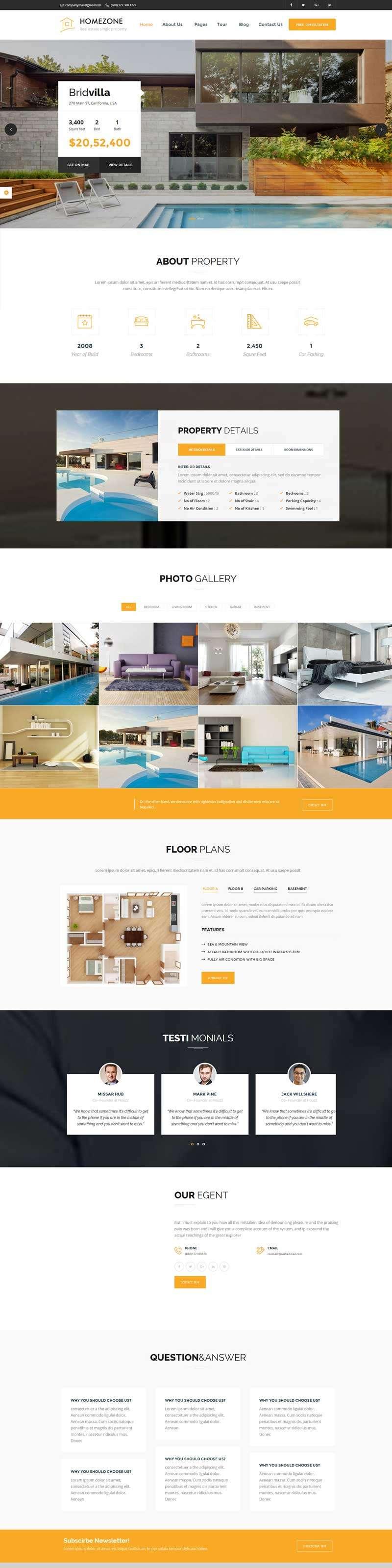 大气的房地产销售网站模板html下载