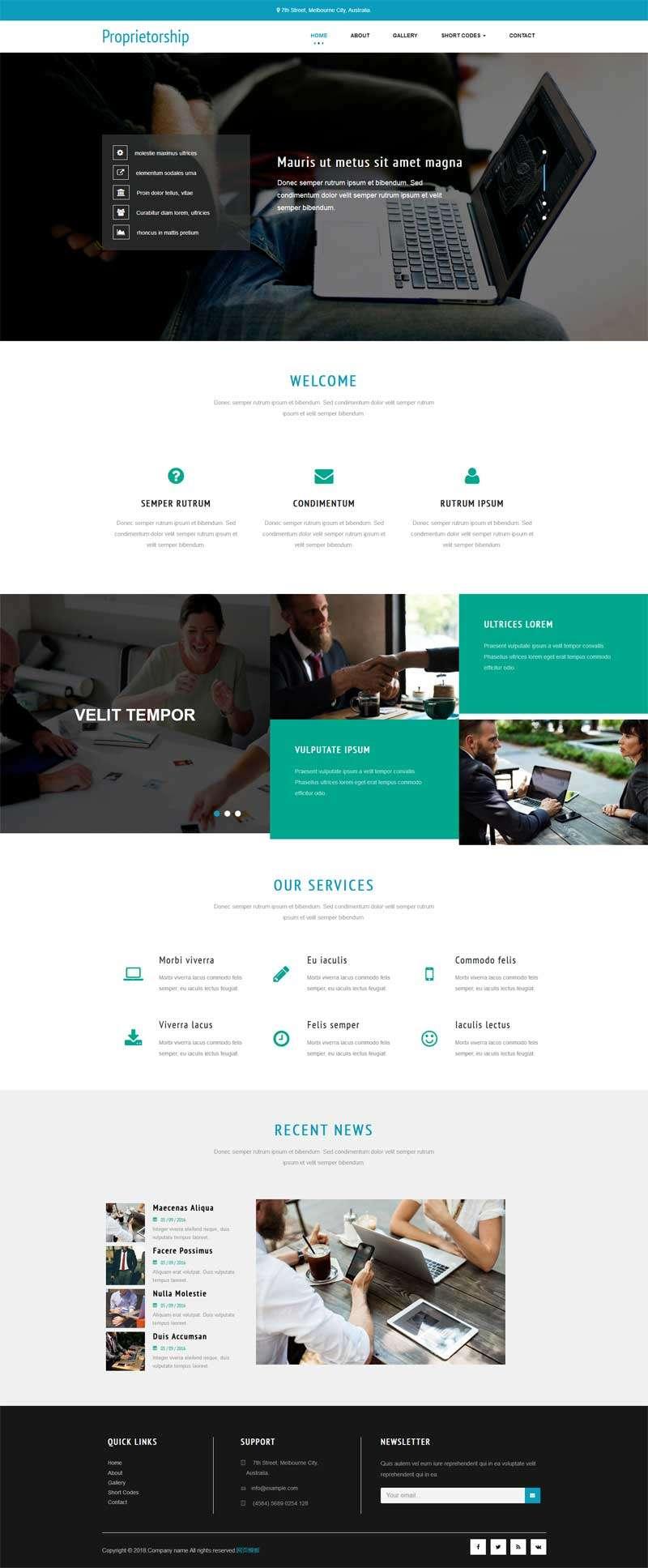 通用的商务咨询服务公司网站模板
