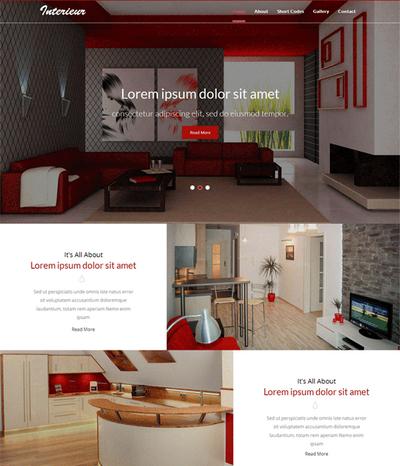 全屏大气室内装饰公司html网站模