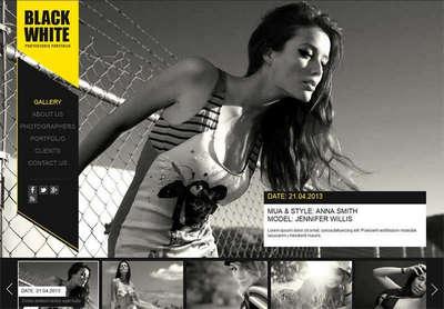 全屏个人图片相册展示html模板