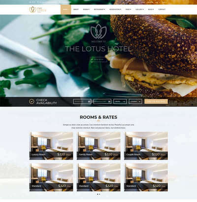 html5大气旅游度假酒店预订网站模板