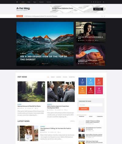 响应式新闻资讯图片博客类静态html网站模板