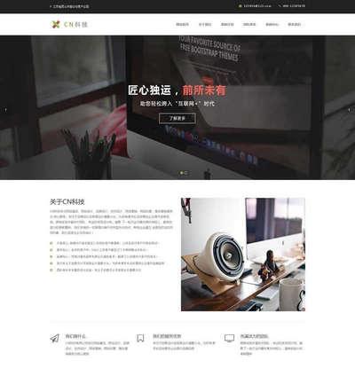大气互联网服务科技公司html网站模板