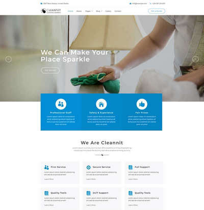 大气家政清洁服务公司html5网站模板