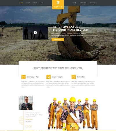 大气建筑工程行业html静态网站模板