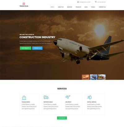 大气航空货运物流公司html静态网