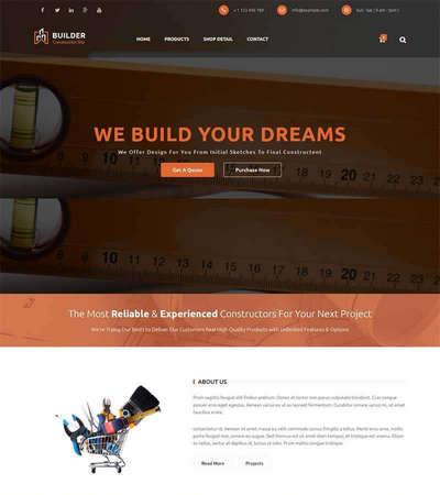大气建筑工程勘察设计公司html静态网站模板