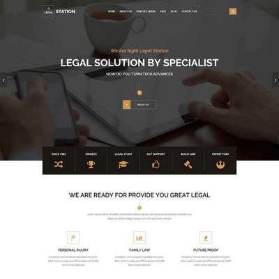 大气响应式律师事务所法律咨询网站模板