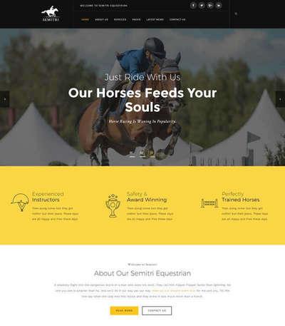 响应式骑马马术俱乐部html静态网站模板