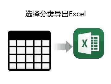 选择分类导出Excel表格实例