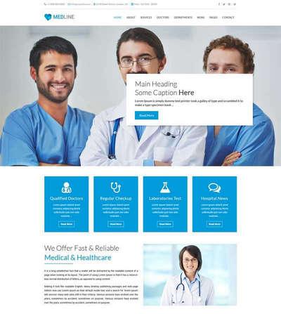 蓝色bootstrap医院医疗服务html网站模板