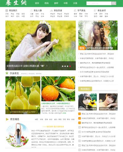 养生资讯html静态网站模板