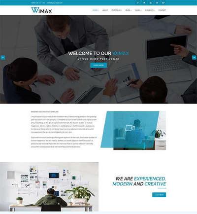 蓝色大气商务服务企业html5静态网站模板