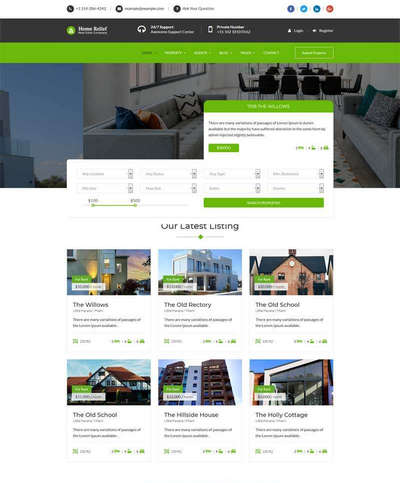 Bootstrap响应式房产中介html网站模板