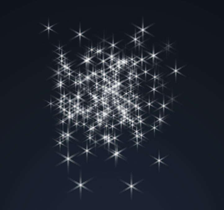 透明璀璨的星星元素动画特效