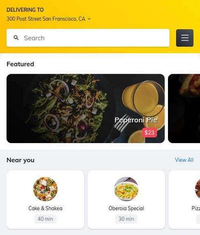 手机端餐饮外卖预订html静态页面模板
