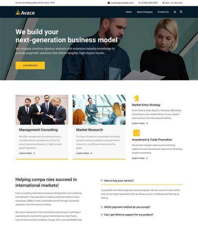 通用商务咨询分析服务机构html网站模板