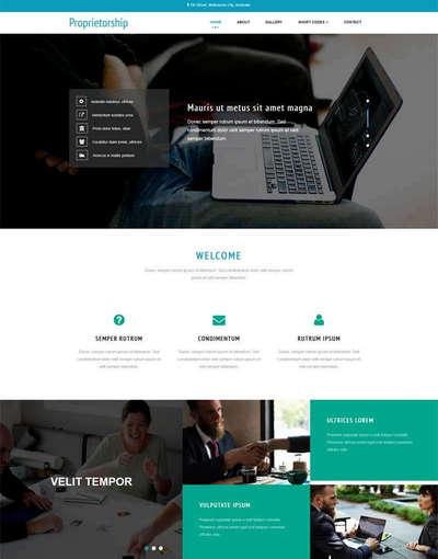 通用商务咨询服务公司html网站模板