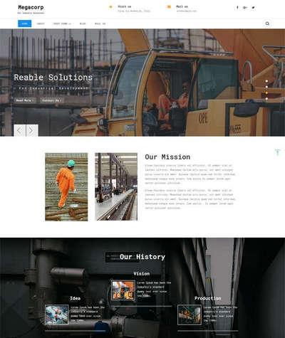 响应式机械工业集团html静态网站模板