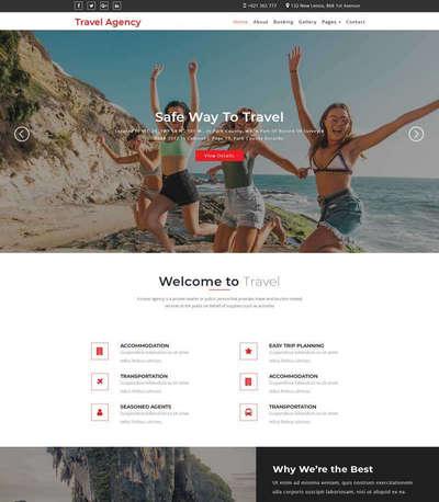 响应式旅行社服务html静态网站模板