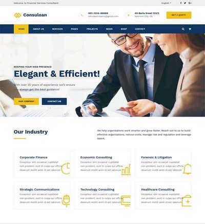 html5响应式金融商务咨询服务公司网站模板
