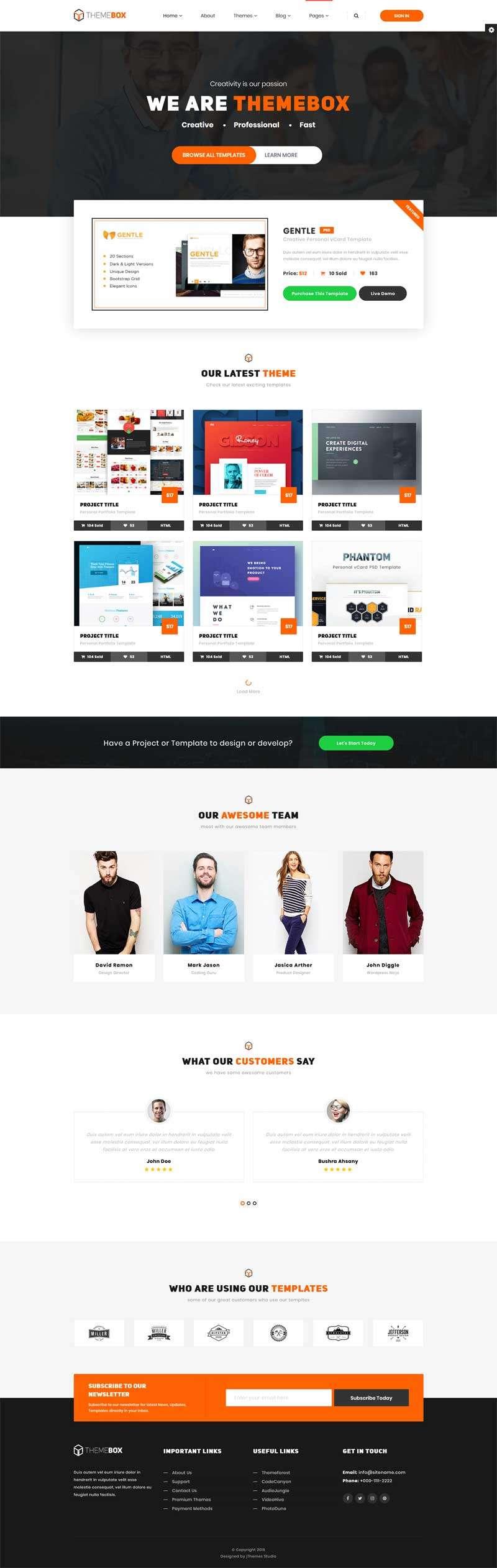 橙色的图片设计素材交易平台网站模板