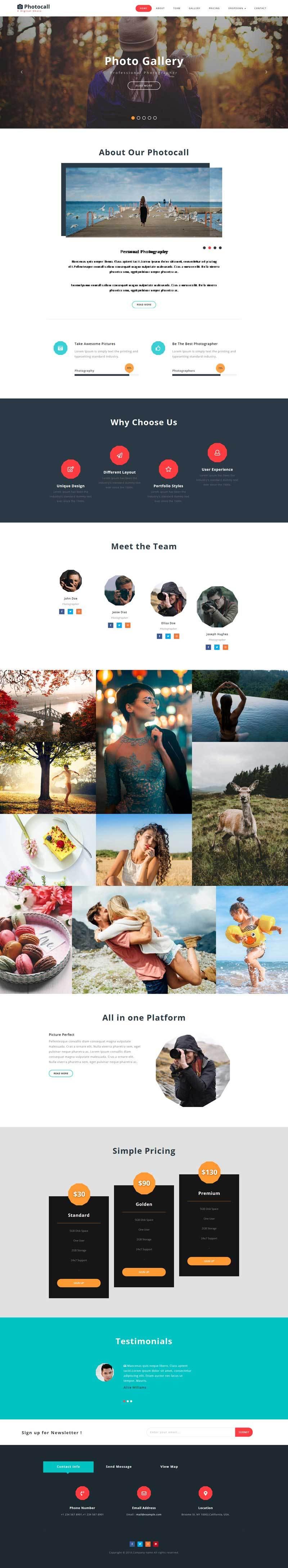 响应式的婚纱摄影写真单页展示模板