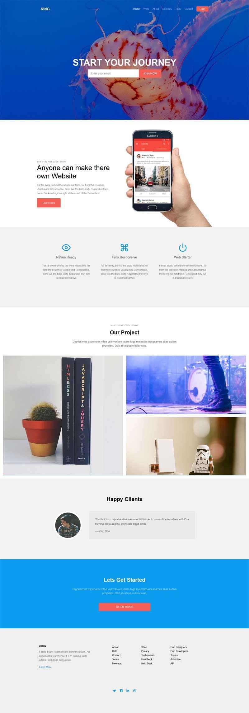 简单通用的广告公司作品展示html5动画模板