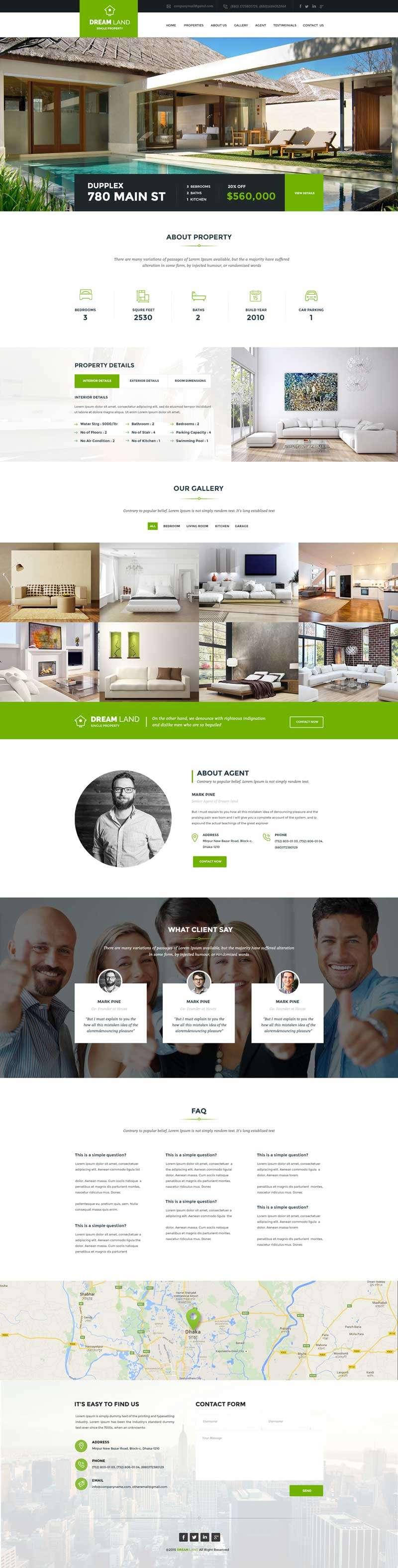绿色的房产网二手房销售平台网站模板
