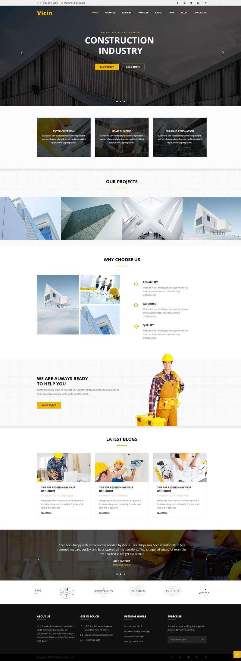 大气的建筑装修设计公司网站html模板