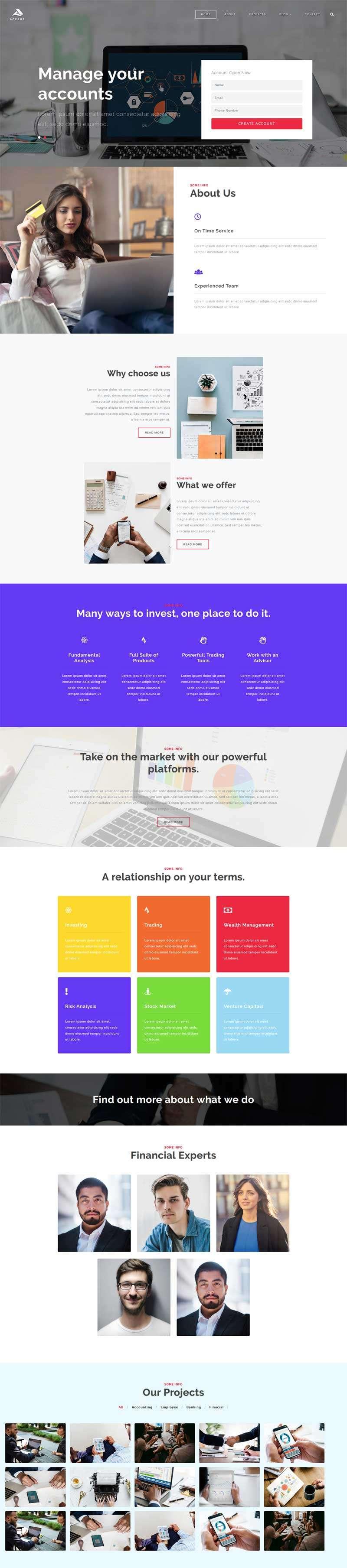金融开户资金投资管理网站模板