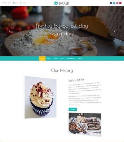 宽屏甜品咖啡店html静态网站模板