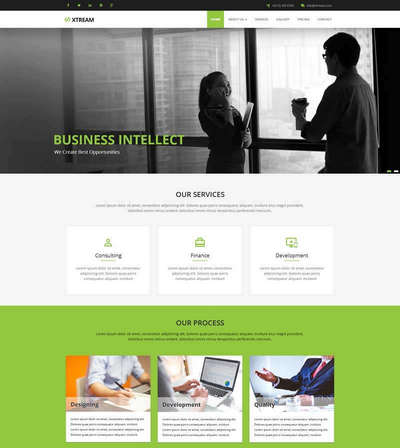 绿色商业服务咨询网站通用html模板