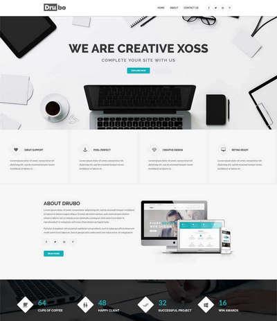 响应式创意设计公司html网站模板