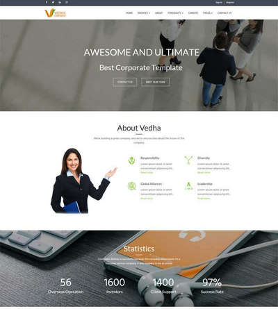 响应式广告设计公司网站通用html模板